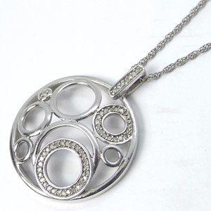 0.40ct Genuine Diamond Circle Necklace